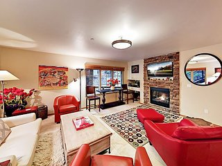 Sophisticated 2BR St. Moritz Condo w/ Mountain Vistas -- Walk to Lift!