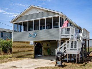 Blue Bungalow | 625 ft from the beach | Hot Tub, Dog Friendly | Kitty Hawk