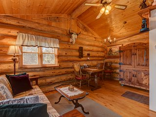 Cozy, Quiet and Unique Log Cabin w/ Mountain Views, 4 Miles to Downtown