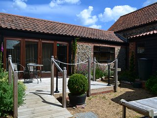 Brand new barn conversion, pet friendly, close to coast, secure garden.