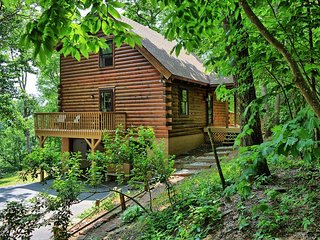 Rich Mountain Cabin-Secluded Cabin Surrounded by Lush Woods in BOONE, fire pit,