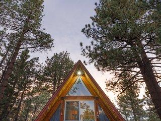 True North Cabin, Big Bear getaway, sledding, hiking, biking, fishing, and more.