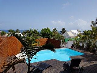 Villa vue Mer avec piscine a 500 m de plage  et a 2 kms du bourg