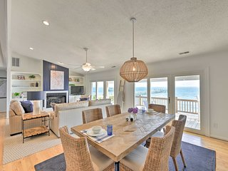 NEW! Harkers Island Home w/Waterfront Sunset View!
