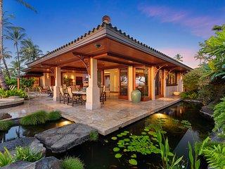 Beautiful 5-Bedroom Ocean-front Villa in the Mauna Lani Resort in the Big Island