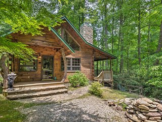 Storybook Bryson City Cabin on Stream - w/Hot Tub!