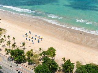 RAD2704 Excelente Flat Beira Mar da praia de Boa Viagem, no Radisson Hotel, o me