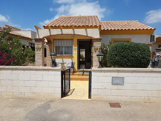 Ref C52 Monsura. Two bedroom villa on Camposol with Communal Pool