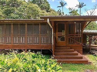 Beautiful 2 bedroom 1 bathroom Hawaiian home, LAVA viewing not far.