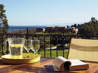 Sunny Coco mat villa with a sea view