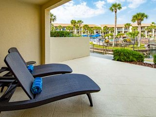 First floor condo- Large Patio by heated Lagoon Pool, easy Beach Access, 2nd Poo