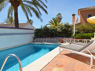 MARBESA- 2 BED 2 BATH VILLA WITH PRIVATE POOL & GARDEN. 3 MINS WALK TO BEACH