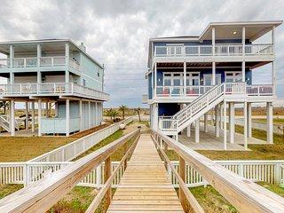 Luxury beachfront home w/ two-level deck, amazing Gulf views & path to beach!