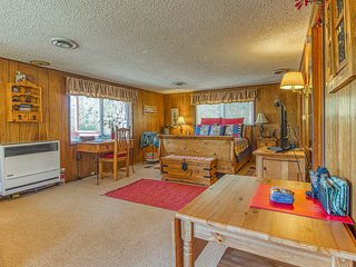 NEW LISTING! Lower-level mountain view studio with multiple decks