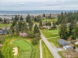 NEW LISTING! Golf course-front home w/ fireplaces, deck, great views - dogs OK!