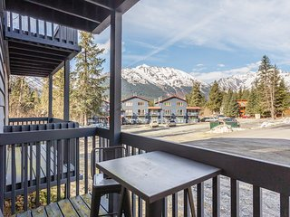 Modern condo with views and convenient location near skiing, biking, and more