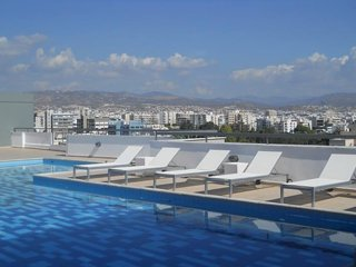 Swimming pool on the rooftop with panoramic views