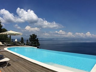 Villa Tsaki  -  Private Pool  -  Quiet Area  -  Sea View -  Near Corfu Town