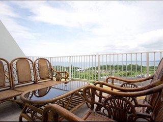 Uruma Hills Great Ocean View Apt. with a free rental 8 seater Van / free parking