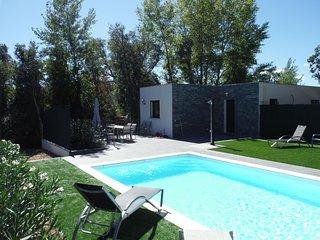 Villa au calme avec piscine chauffee proche plage Saint Cyprien
