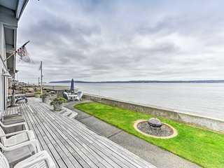 NEW! Beachfront Whidbey Island Home + Apartment!