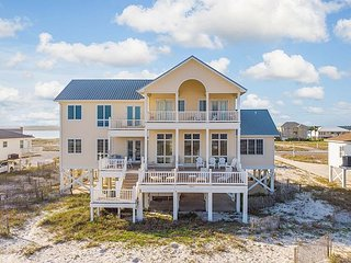 Elegant 6BR Beachfront Home w/ Chef's Kitchen, Huge Decks & Amazing Gulf View
