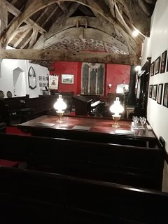 An evening at St Mary's....time to take in the surroundings and view the collection of old pictures.