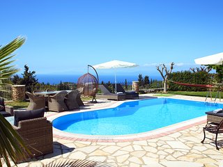 Thanasis family villa with unlimited view to the blue of the Ionian Sea
