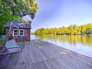 NEW! Lakefront Adirondacks Cabin w/Dock & Fire Pit