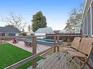 Dog-friendly home w/ private lap pool & enclosed backyard - walk downtown!