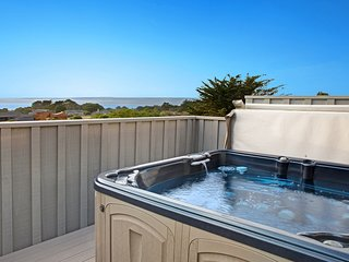 Dog-friendly ocean view home w/ deck, private hot tub & grill
