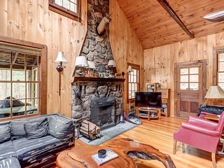 NEW LISTING! Dog-friendly, lakefront camp cabin with dock, multiple decks