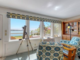 NEW LISTING! Bay view cottage w/ deck & firepit - 150 ft to water, near Acadia!