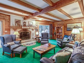 NEW LISTING! Lakefront house with private beach and dock, multiple decks