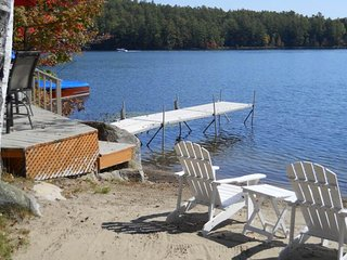 NEW LISTING! Lakefront, family-friendly house with sandy beach, private dock