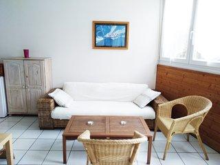 200M PLAGE Charmant Appartement de vacances à la mer, Grande Terrasse, WiFi