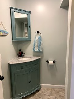 Completely renovated with new vanity, faucet, toilet, and more