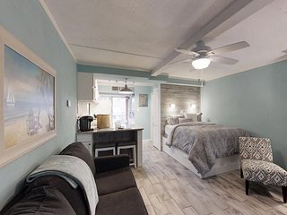 Cozy, dog-friendly studio w/ two shared pools, a fitness room, & a picnic area