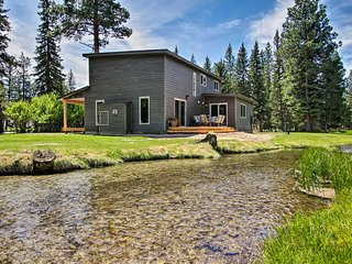 NEW! Creekfront Lincoln Home, Steps from Downtown!