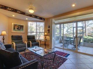 Family-friendly condo w/ shared, seasonal pool, full kitchen, & furnished patio