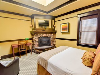 Exclusive adults suite w/ spa tub, fire place & on site restaurant.