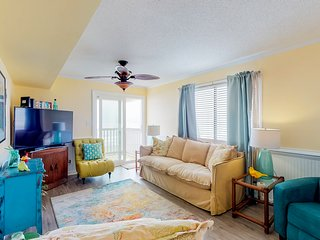 Oceanfront condo w/ balcony, shared pool & direct beach access!