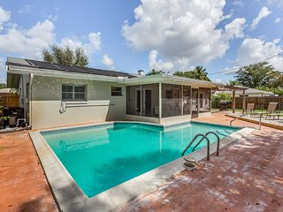 Single level, dog-friendly home w/ a private pool & furnished patio w/ grill