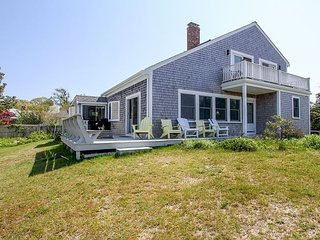 Oceanview Buzzards Bay 3BR Getaway w/ Wraparound Deck – Steps to the Beach