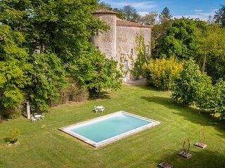 Plaigne Chateau Sleeps 29 with Pool - 5678528