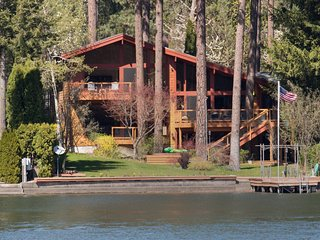 Waterfront home on the Spokane River