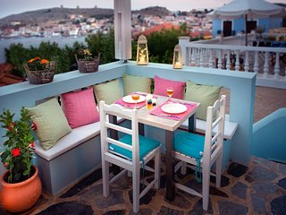 Amazing Blue House in Halki Island