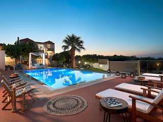 The pool terrace is just amazing at sunset!