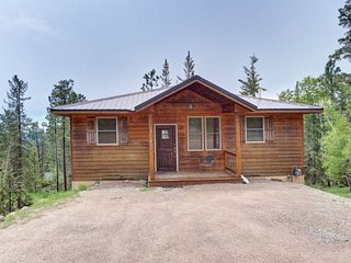 High Ridge Cabin - New listing with gorgeous views, hot tub and outdoor gas fire