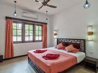 #VillaCalangute Phase 12- 4BHK House with an Open to Sky Bathroom, Carom Board